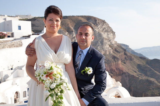 Wedding in Santorini Loucas Hotel