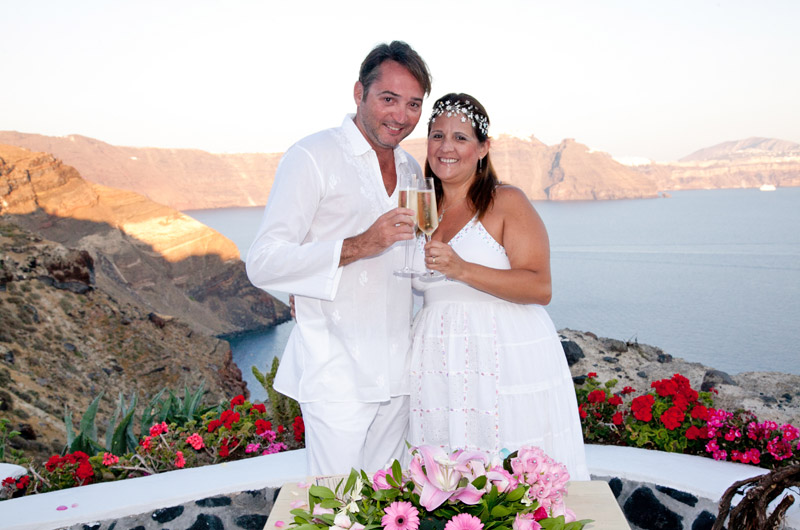 santorini weddings