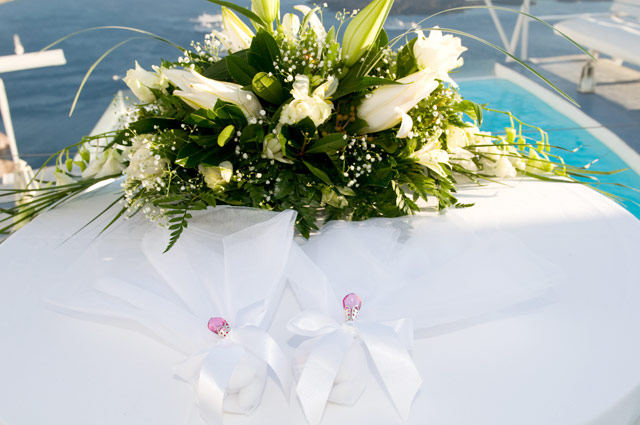 wedding table flowers decoration