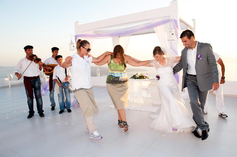casamentos em santorini