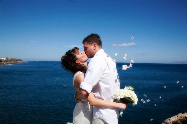 kiss the bride in greece
