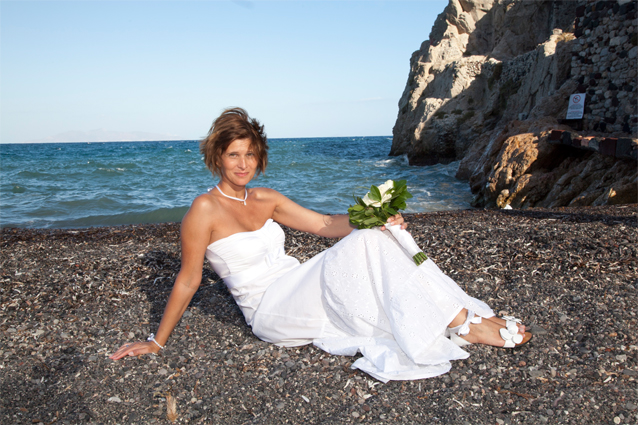 santorini civil beach weddings