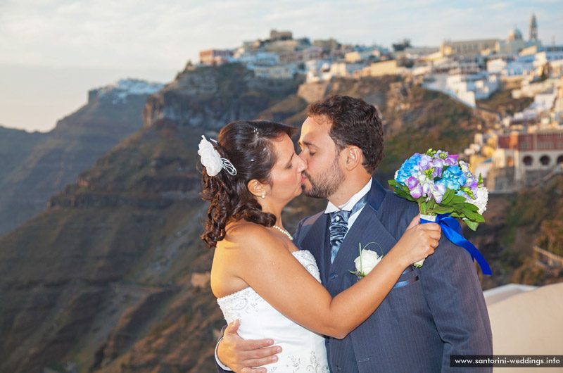 Santorini Spring Wedding