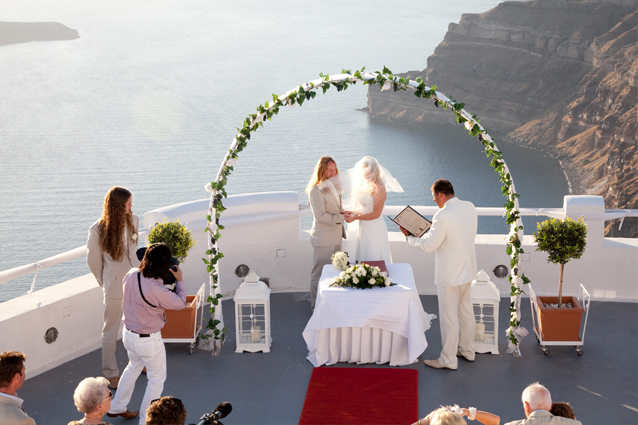 Santorini Wedding Pictures Santo Wines 24 June 2011