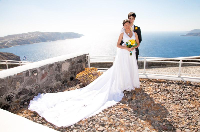 Thermes Villas Santorini Wedding