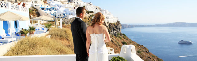dana villas weddings santorini