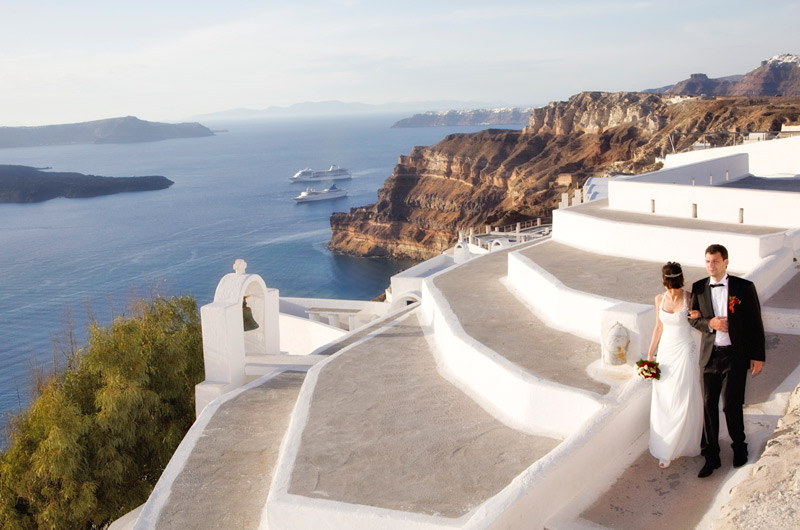 santorini wedding location